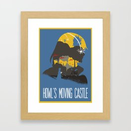The Many Faces of Cinema: Howls Moving Castle Framed Art Print
