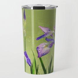 Wild Blue Flag Irises Travel Mug