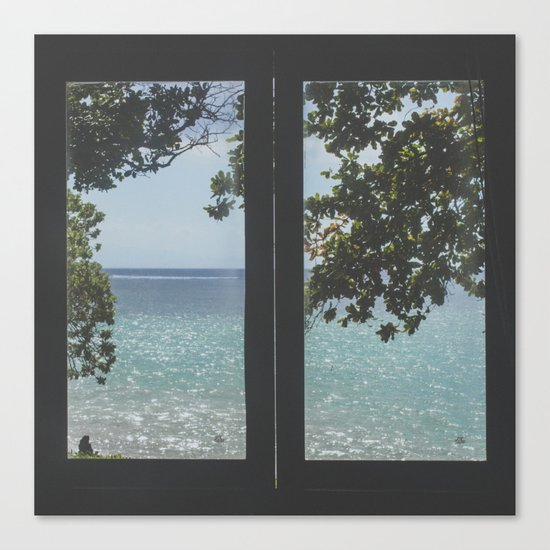 Indonesian Villa Views Canvas Print