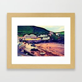 Doc Martin's House at Portwenn Framed Art Print