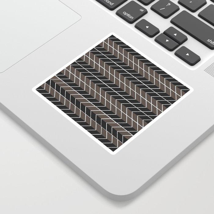 Non-conformist Black Chevron Pattern #society6 Sticker