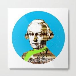 Mozart Kugel Blue Metal Print