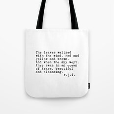 Typewriter Thoughts #3 - The Leaves Tote Bag