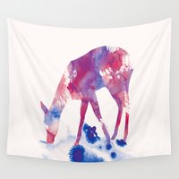 fawn Wall Tapestries featuring Fawn by Andreas Lie