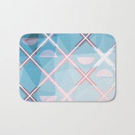 Abstract Triangulated XOX Design Bath Mat