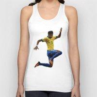 neymar Tank Tops featuring World Cup - Brazil - Neymar by HonickDesign