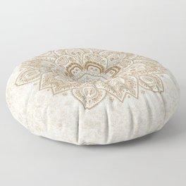 Mandala Temptation in Cream Floor Pillow