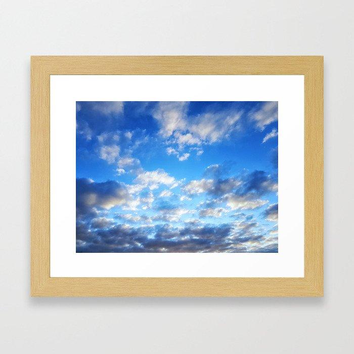 Fluffy Clouds Framed Art Print