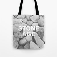 queens of the stone age Tote Bags featuring Stone Age by Concept Phi
