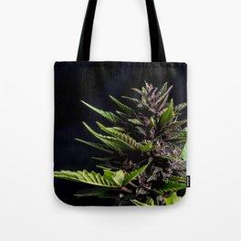 Purple Cannabis Plant Tote Bag