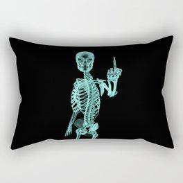 X-ray Bird / X-rayed skeleton demonstrating international hand gesture Rectangular Pillow