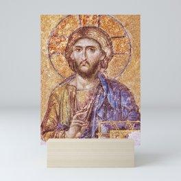 Christ Pantocrator Mosaic Icon Mini Art Print
