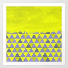 Triangle Dip Lime Art Print