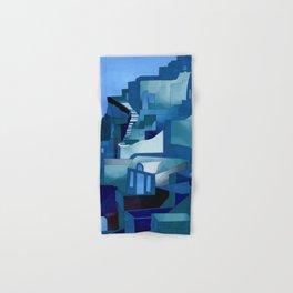greece santorini abstract illustration Hand & Bath Towel