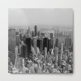 New York City Black and White Metal Print