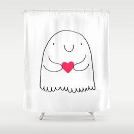 Love Ghostie Shower Curtain