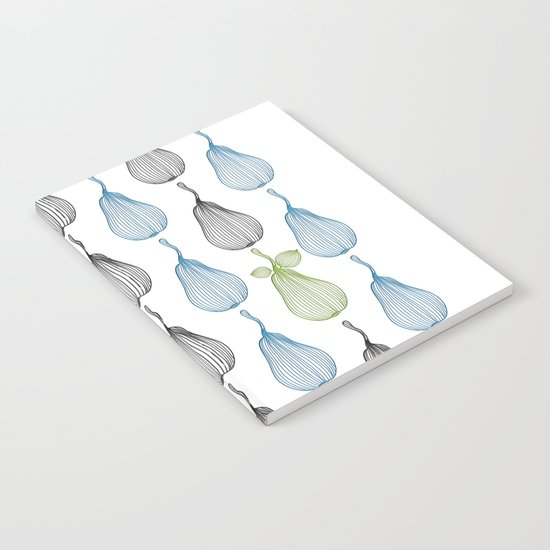 minimal pears pattern Notebook