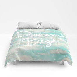 Dream Big (Turquoise) Comforters
