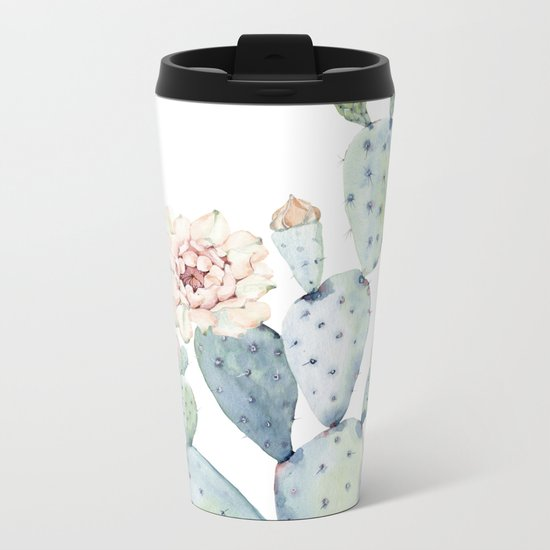 The Prettiest Cactus Metal Travel Mug