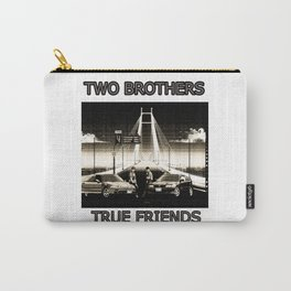 Two Brothers True Friends - by HS Design Carry-All Pouch