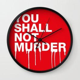 The Sixth Commandment Wall Clock