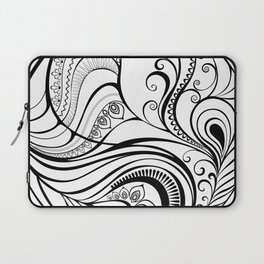 Abstraction with Peacock Feather Laptop Sleeve