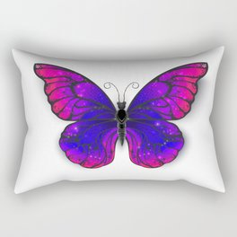 Tricolored Butterfly Rectangular Pillow