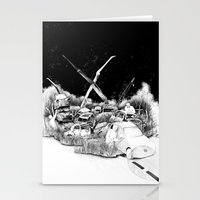 cars Stationery Cards featuring Cars by Andreas Derebucha