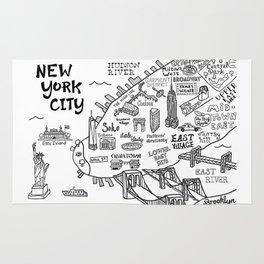 New York City Map Rug