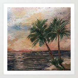 Beach Side  Oil on Canvas Art Print