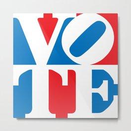 VOTE Square Metal Print