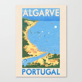 Travel Posters - Algarve Canvas Print
