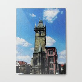 Prague Tower Metal Print