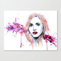 lydia martin Canvas Prints featuring Lydia Martin by Sterekism