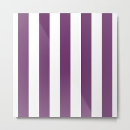 Eminence Big Vertical Stripes   Interior Design Metal Print