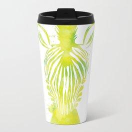 Watercolor Zebra Metal Travel Mug