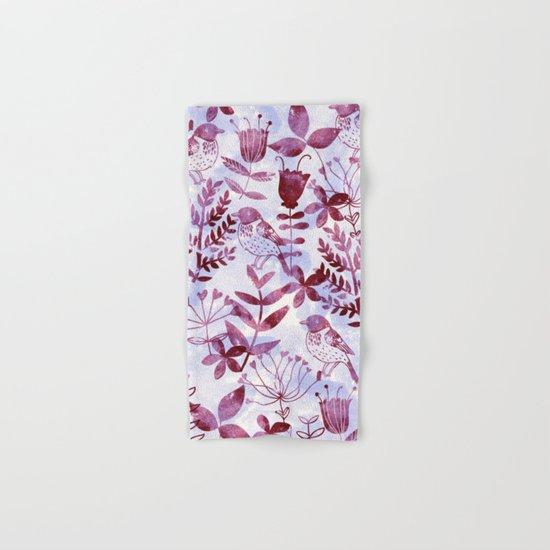 Watercolor Botanical Garden V Hand & Bath Towel