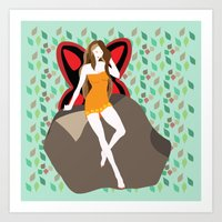 pagan Art Prints featuring pagan faerie by Watch House Design