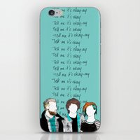 paramore iPhone & iPod Skins featuring Tell me it's okay by Marconte