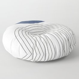 Blue Half Moon Arch Floor Pillow
