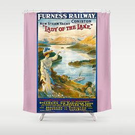 Furness Railway and Lady of the Lake Shower Curtain
