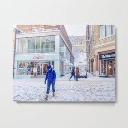Snowy Day In Norwich, U.K Metal Print