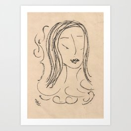 Speechless Art Print
