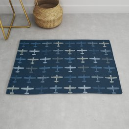 Blue airplane pattern Rug