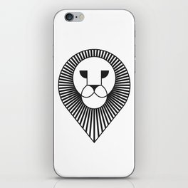 animal PICTOGRAMS vol. 4 - LIONS iPhone Skin