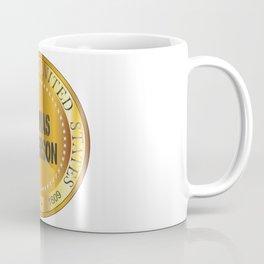 Thomas Jefferson Gold Metal Stamp Coffee Mug
