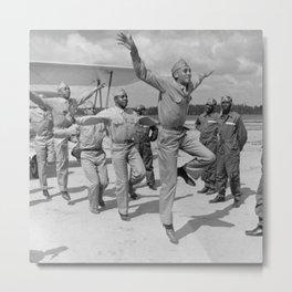 Black Airforcemen, 40s Metal Print