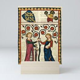 Codex Manesse: Bernger von Horheim Mini Art Print