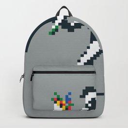 Flower Thrower Graffiti Pixel Backpack