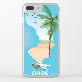 Chios Greece Clear iPhone Case